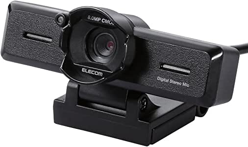Black with Elecom WEB camera stereo microphone built-in 8 million-pixel high-definition glass lens lens hood UCAM-C980FBBK