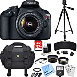 Beach Camera Canon EOS Rebel T5 18MP DSLR Camera & EF-S 18-55mm IS II 3 Lens Bundle includes Camera, Lenses, Flash, Tripod, Bag, 32GB SDHC Memory Card, Filter Kit, Cleaning Kit, Cloth and More