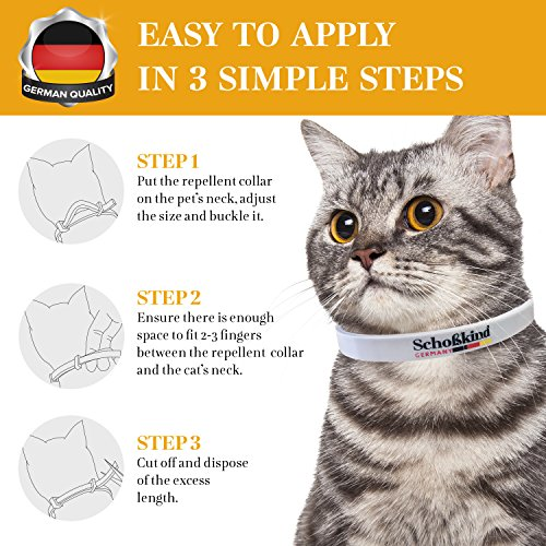 Organic Way Flea Collar - Tick Collar for Cats - Made for Germany - 100% Safe & Eco-Friendly – Based on Natural Oils - Flea and Tick Prevention Pets - 6-Month Protection – Waterproof Cat Flea Collar