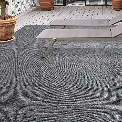 iCustomRug Affordable Indoor/Outdoor All Purpose Utility Loop Pile Carpet with Marine Backing, Multi Use Carpet for Patio, Porch, Deck, Boat, Basement, Garage or Trade Show ()