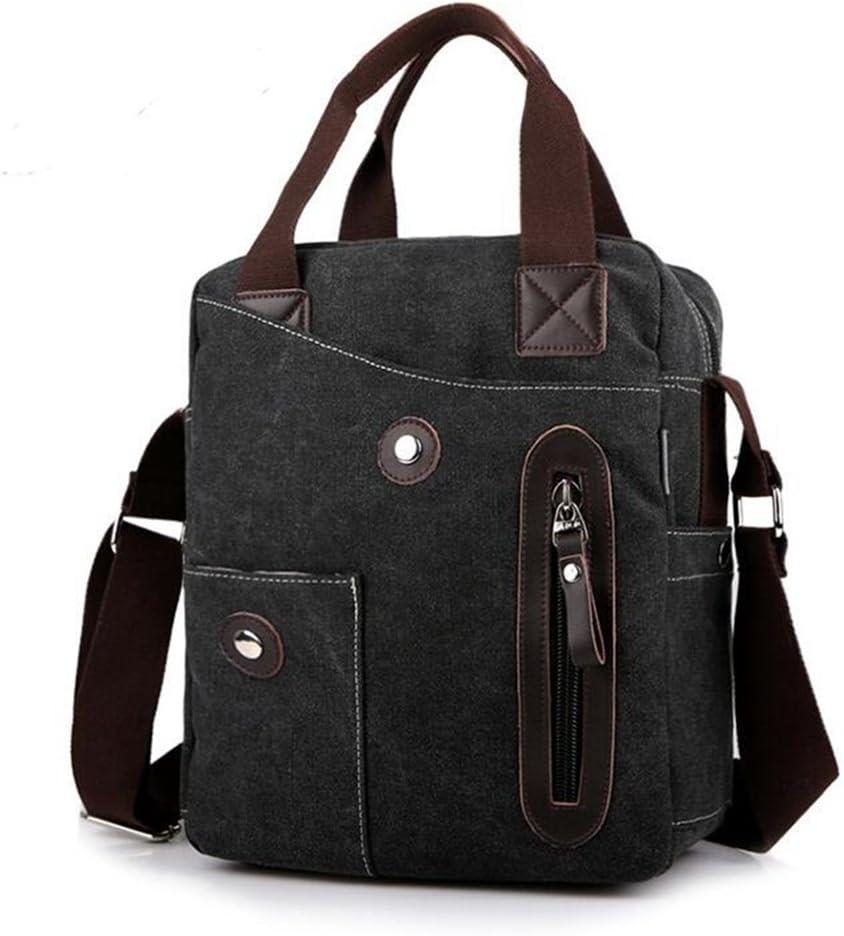 Sucastle Casual bag fashion bag handbag diagonal package bag shoulder bag canvas bag Sucastle Color:black Size:33x28x11cm