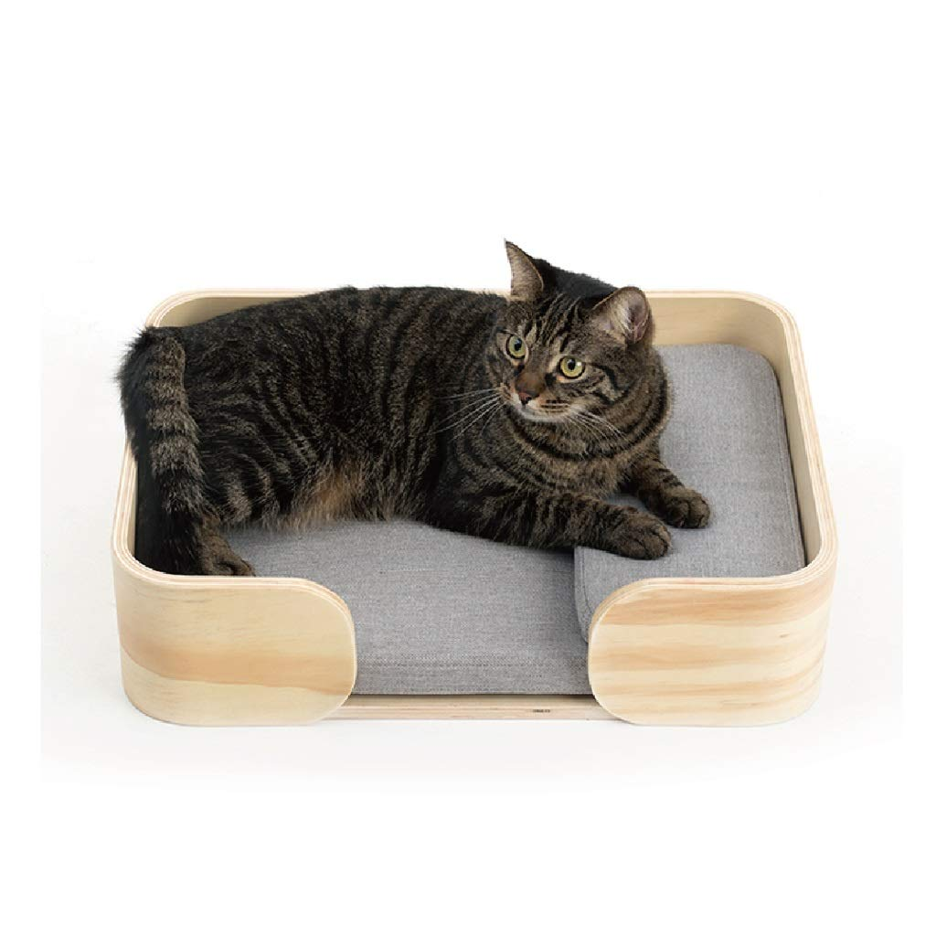 JIANXIN Pet Bed, Wooden Box Cat Litter, Solid Wood Dog Bed, Suitable for Cats and Small Dogs, Suitable for All Seasons