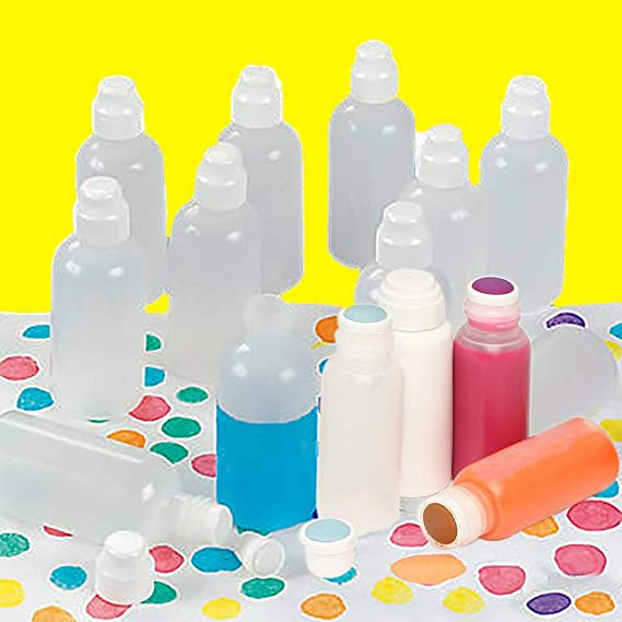 Brilliant Bingo Bottles With Sponge Tip, Paint Marker Daubers, Great For Dot Painting, Easy Grip (12-Pack)