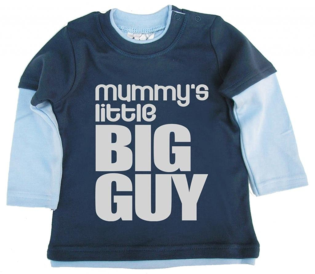 Dirty Fingers, Mummy's little Big Guy, Baby Skater Top, Blau & Hellblau, 2/3 J Mummy's little Big Guy