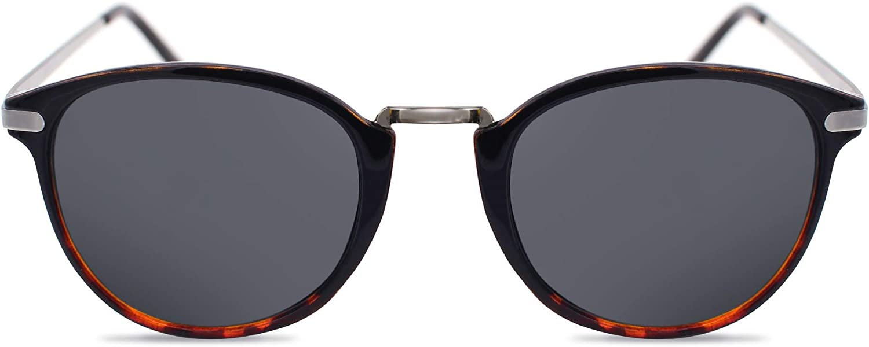 Cheapass Occhiali da Sole Rotondi con Montatura a Stampa Leopardo con Lenti a Specchio Rosa UV400 da Donna