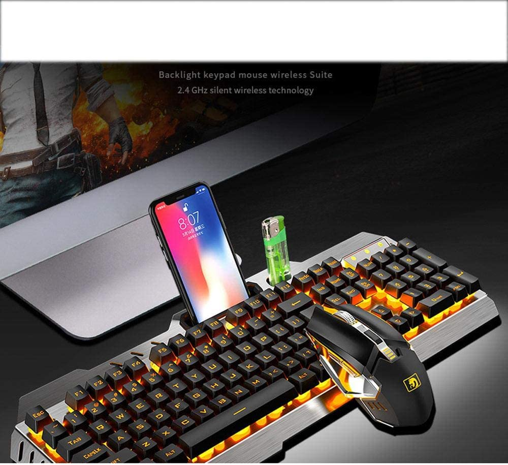 Rechargeable Wireless Keyboard and Mouse Set Unlimited Keyboard and Mouse Laptop Desktop Game Dedicated