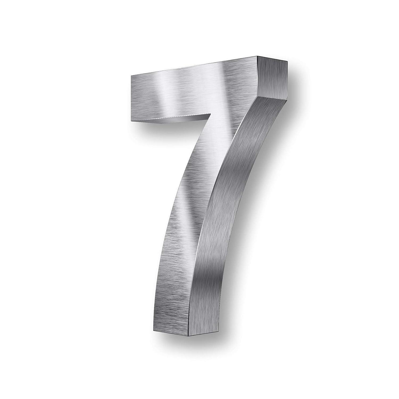 Num/éros de maison en 3D Acier inoxydable V2A argent/é Tous les chiffres et lettres argent R/ésistant aux intemp/éries 2 20 cm