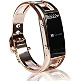 Deal_win Smart Bracelet Bluetooth Wrist Watch Phone for iOS Android iPhone Samsung Support Caller ID, Health Pedometer Bluetooth Sync Smart Watch Phone Bracelet For IOS Android Samsung iPhone (gold)
