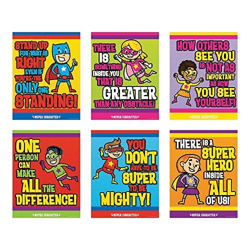 (Superhero Character Poster Set)