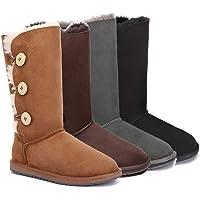 UGG Boots Classic Tall in 3 Button - 100% Premium Australian Sheepskin, Non-Slip
