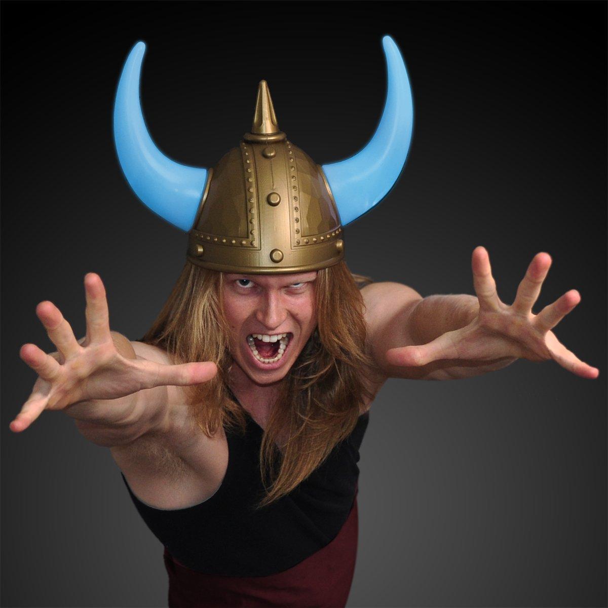 FlashingBlinkyLights Warrior Viking Helmet with Light Up Horns (Set of 12)