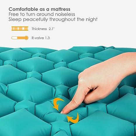 Amazon.com: Femor - Almohadilla hinchable para dormir ...