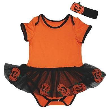 91034801631 ... so cheap c7127 32498 Petitebelle Plain Orange Bodysuit Black Move  Pumpkin Tutu Nb-18m ...