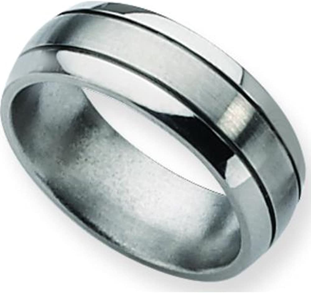 Titanium 8mm Brushed Mens Wedding Ring Band Sz 12.5