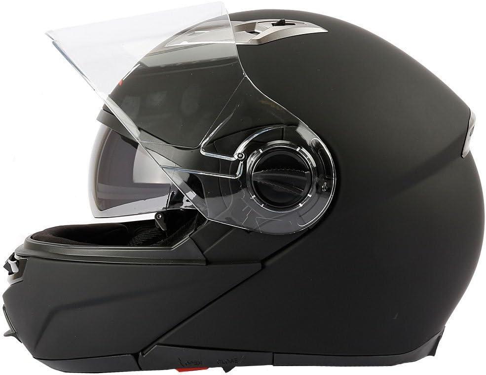 Mach1 Flip Up Klapphelm Helm Motorradhelm mit Integrierter Sonnenblende Gr/ö/ße XS bis XXL