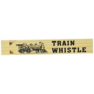 """5.75"""" WOODEN TRAIN WHISTLE: Toys & Games"""