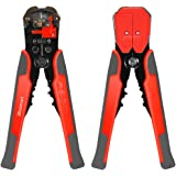Wire Stripper, Blusmart Self-Adjusting Automatic Wire Stripping Tool with ProTouch Grips AWG24-10(0.2~6.0mm²) - Multi Tool Stripper, Cutter and Crimper (Orange with Gray)