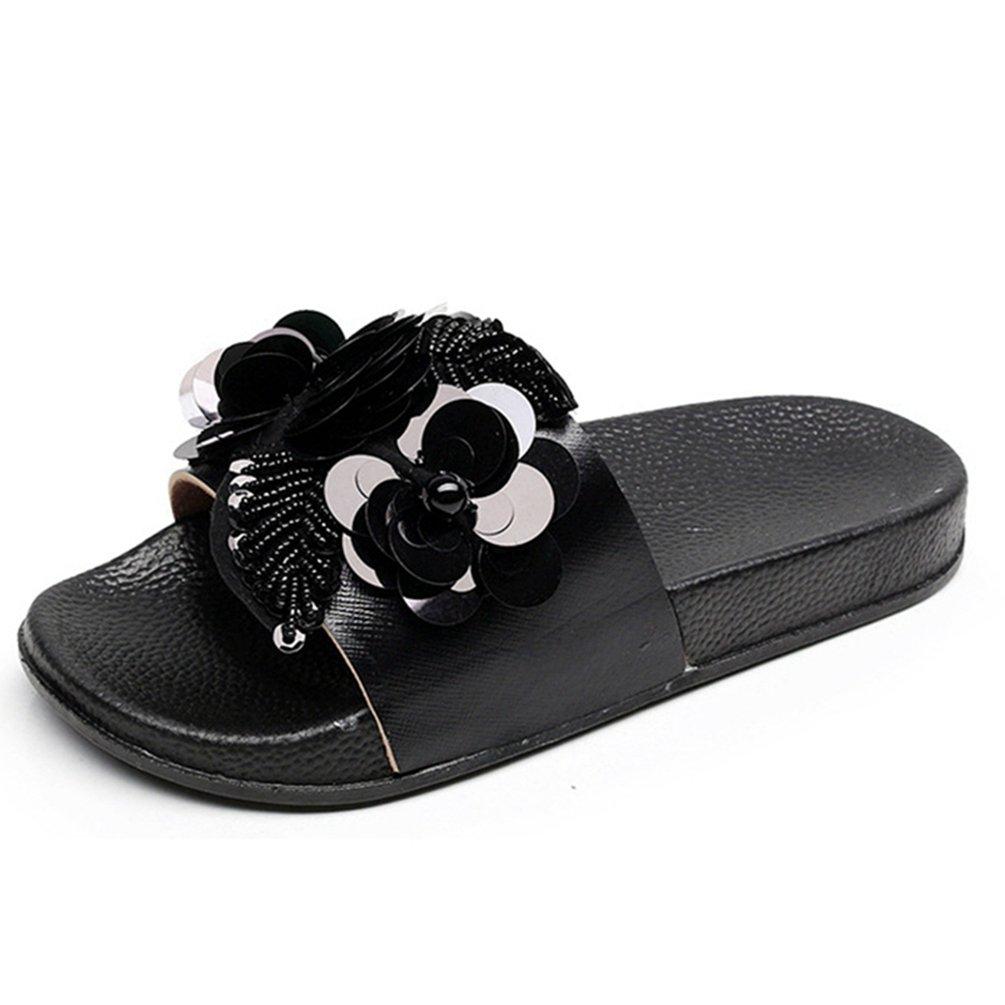 126b93d6f JRenok Damen Blume Open Toe Slide Sandalen Comfort Summer Beach Slip auf  Flatform ist Sandale Casual Slipper 41 EU
