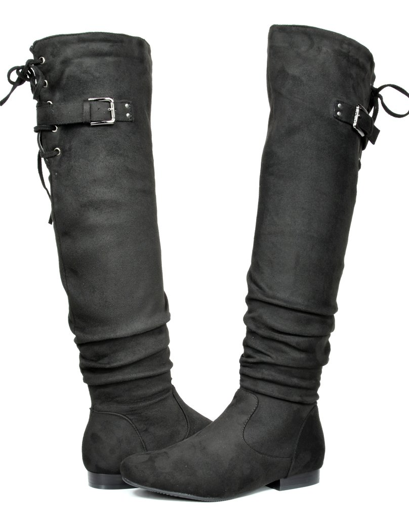 e2dac79ea3f DREAM PAIRS Women s Fashion Casual Over The Knee Pull On Slouchy Boots  product image