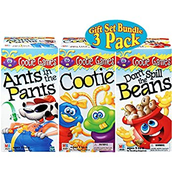 Hasbro Games Ants in the Pants, Cootie & Don't Spill the Beans Gift Set Bundle - 3 Pack