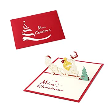 Amazon arich 3d pop up holiday greeting cards valentines day arich 3d pop up holiday greeting cards valentines day happy birthday gift christmas snowmobile m4hsunfo