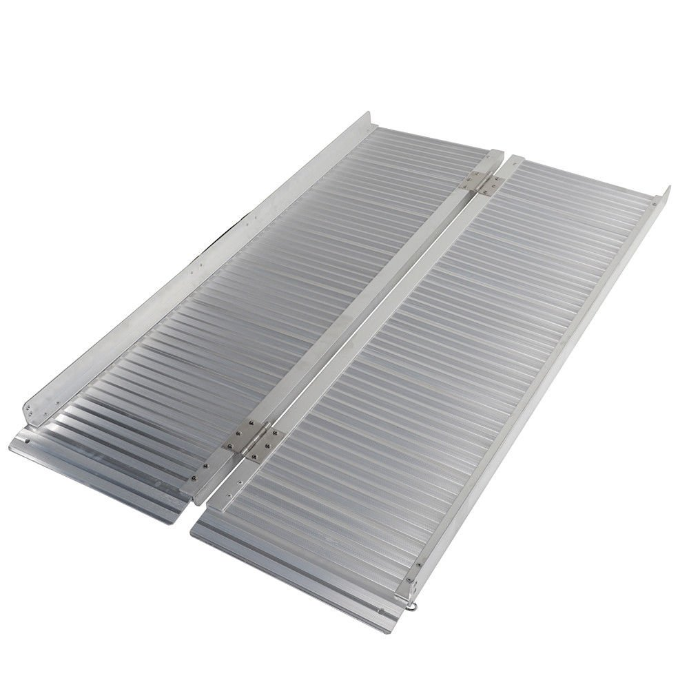 Motorhot Folding Protable Wheelchair Ramp 4ft 600lbs Utility Mobility Scooter Ramp Aluminum by Motorhot