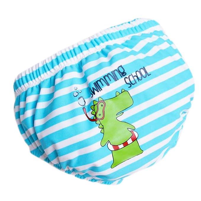 LUNA VOW Bebé pañales de natación reutilizables ajustables absorbentes ajusta pañales, A04