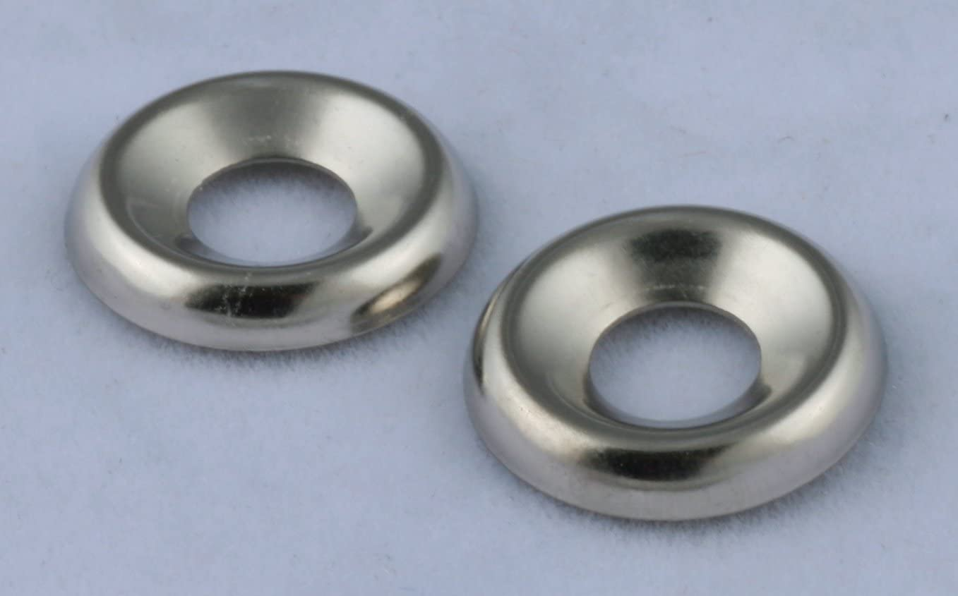#10 Countersunk Finish Washers Steel Nickel Plated 100 Pack
