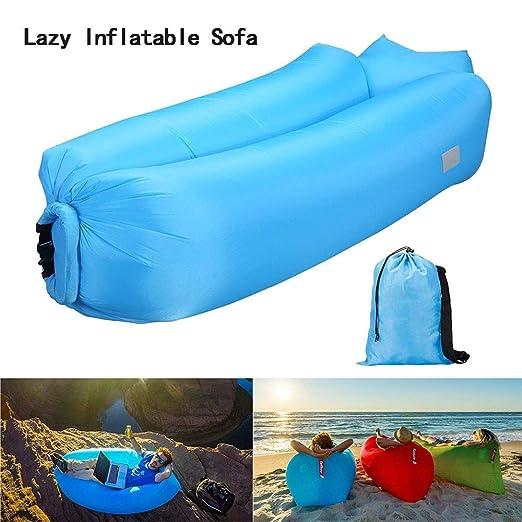 Playa Sofa Hinchable portátil Impermeable Ligero poliéster Tumbona ...