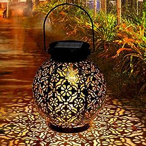 Lanterna Solare Giardino, Tencoz LED Lanterna Solare Esterno Vintage Luce Bianco Caldo Luce Solare Giardino Impermeabile… 12 spesavip