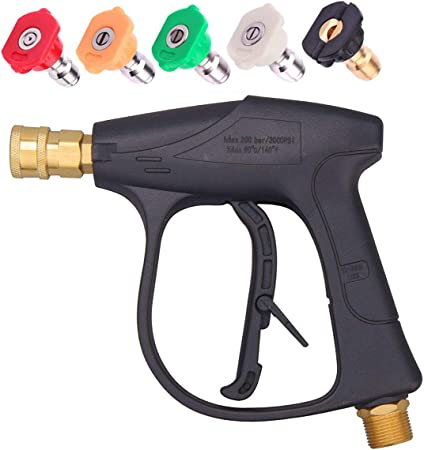 High Pressure Power Washer Gun Water 3000PSI 5-color Nozzles tips Best Choice