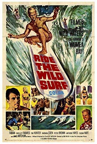 Ride The Wild Surf Poster Movie 27x40 Fabian Tab Hunter Barbara Eden