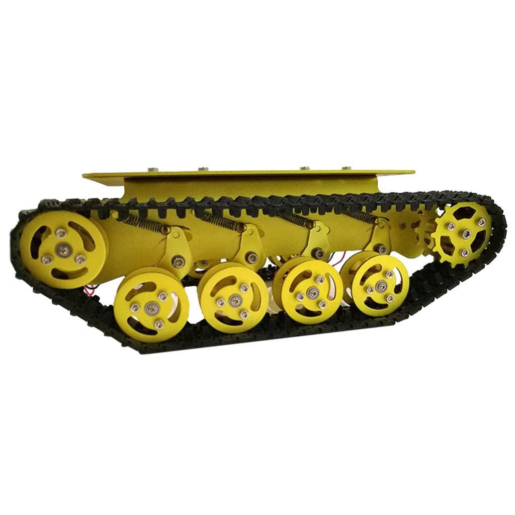 perfk Chasis Coche Tanque Robot TS100 DIY Juguete Dorado Aficionado de Electrónica