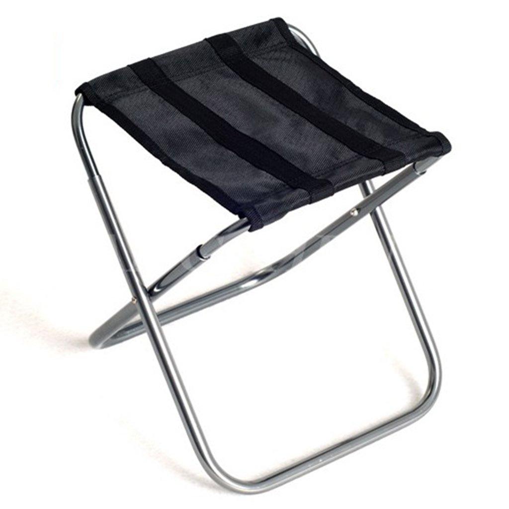 Qz Fischen-Sitz-faltender Strand-kampierende Reise-Jagd-Sitze Im Freien Tragbare Klubsessel, Griff 50kg, Schwarz
