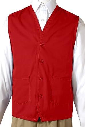 4106 Edwards Garment Men/'s Front Button Waist Pocket Apron Vest