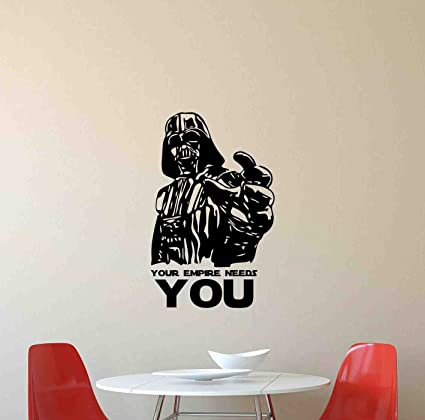 Amazoncom Star Wars Wall Decal Your Empire Needs You Darth