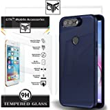 TheGiftKart TPU Back Cover with HD Tempered Glass for Infocus Vision 3 Pro