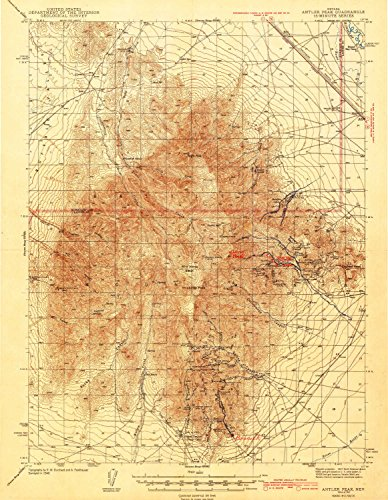 YellowMaps Antler Peak NV topo map, 1:62500 Scale, 15 X 15 Minute, Historical, 1943, 19.8 x 15.4 in - ()