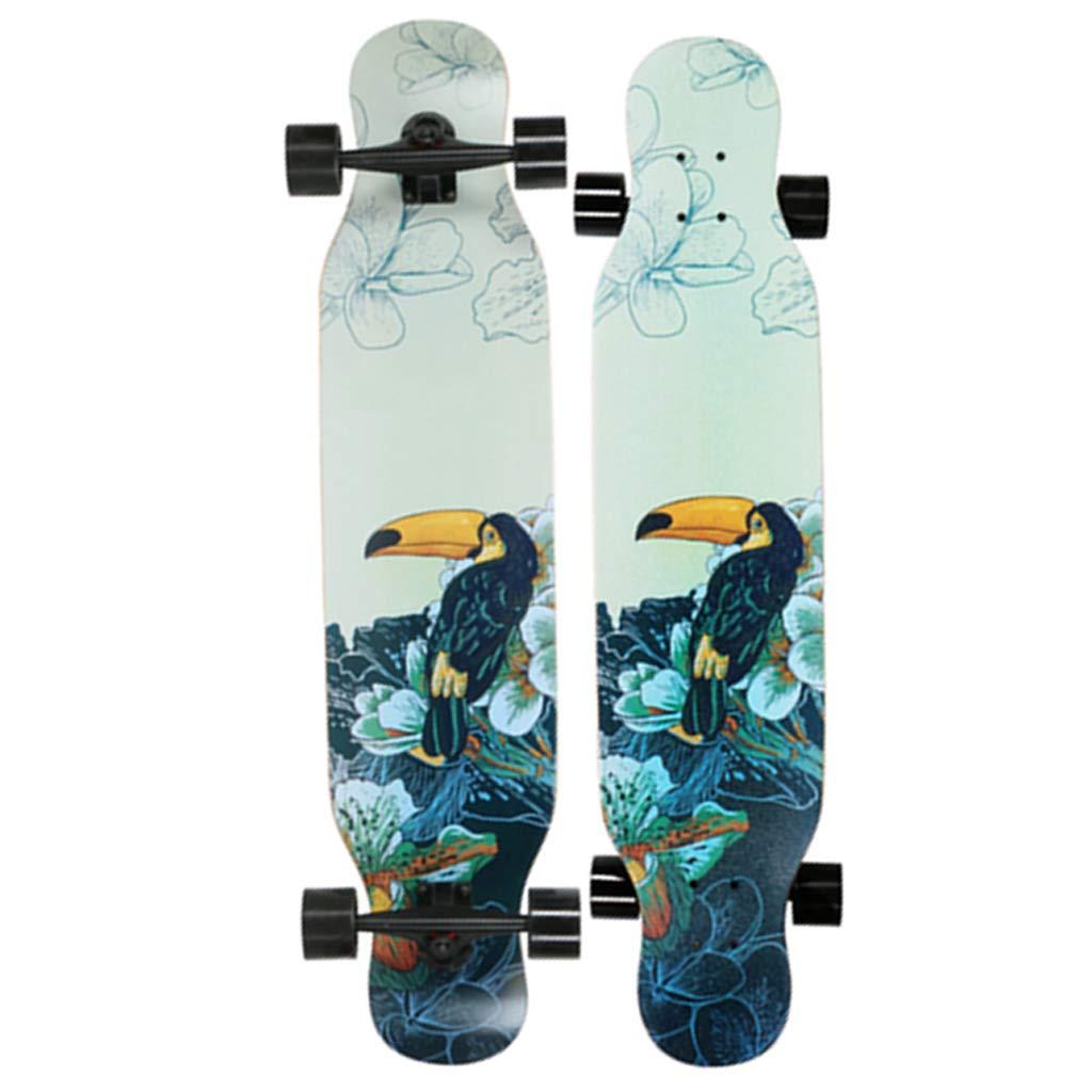 子供オーバー/ボーイ/ガール/ティーンエイジャー42インチX 9インチフリースタイルロングボードスケートボードの最大負荷を介して220ポンドをドロップするのに適したスケートボードクルーザー #2