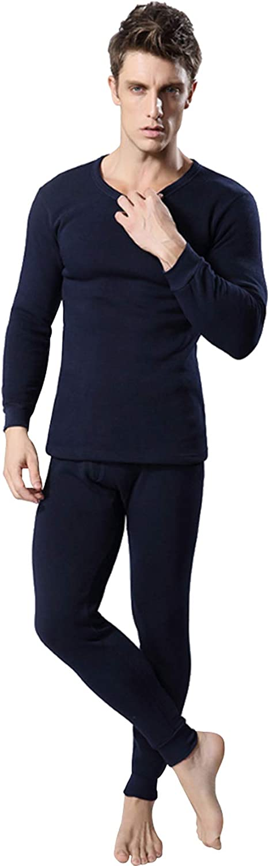 Legou Mens Soft Stretchy Thermal Top /& Bottom Underwear Set