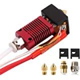 Creality Original 3D Printer Assembled MK8 Hot End Kit with Aluminum Heating Block, 1.75mm, 0.4mm Nozzle, Extruder…