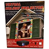 Mr. Christmas Virtual Holiday Projector, Color - 14 Holiday Movies with sound - Lifelike Holiday Display from inside your home - Easy Setup