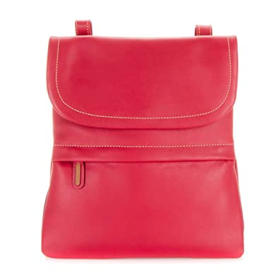 d015482a97b Mywalit Leather Medium Back Pack / Messenger Bag Kyoto Collection 1821  (Berry Blast)