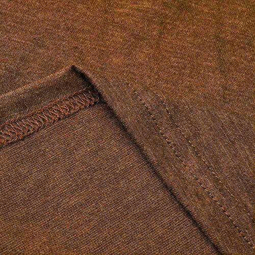 Solide paule Longues T Bretelles Manches Mode Froide Femmes Blouses Kaki Shirts Youngii Sweat Automne Tops va8T1q
