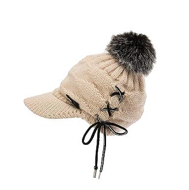 dd173885a PRINCER Hats,Men Women Unisex Crochet Peaked Knitted Caps Winter ...