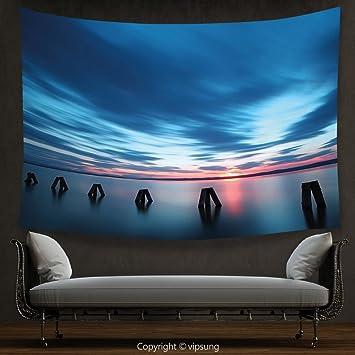 Amazon.com: vipsung House Decor Tapestry Ocean Calm Seascape ...