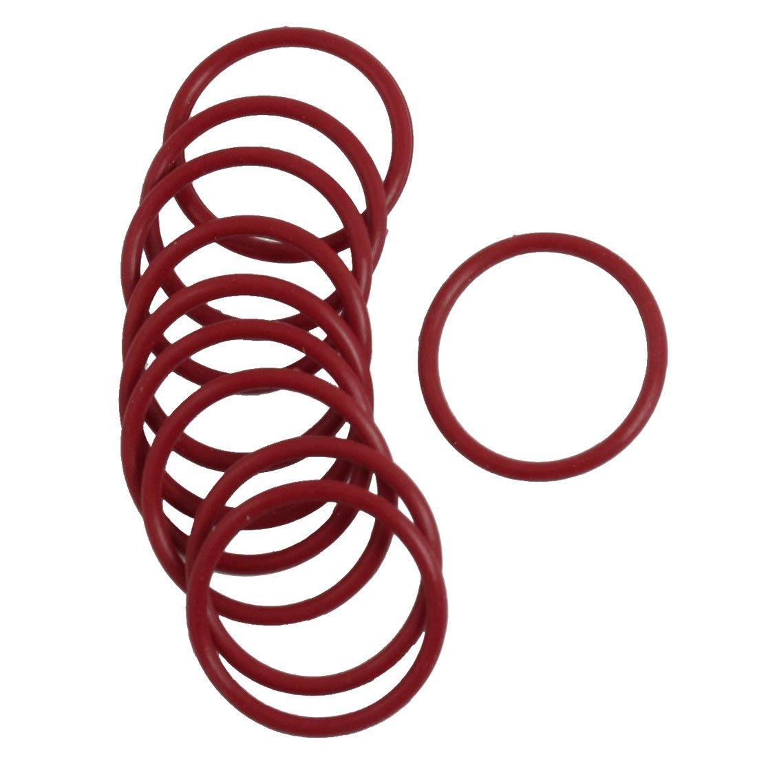 Sourcingmap - 10 pezzi flessibili in gomma o ring di tenuta sostituzione rondella 26 millimetri rosso x 2mm a13030700ux0442