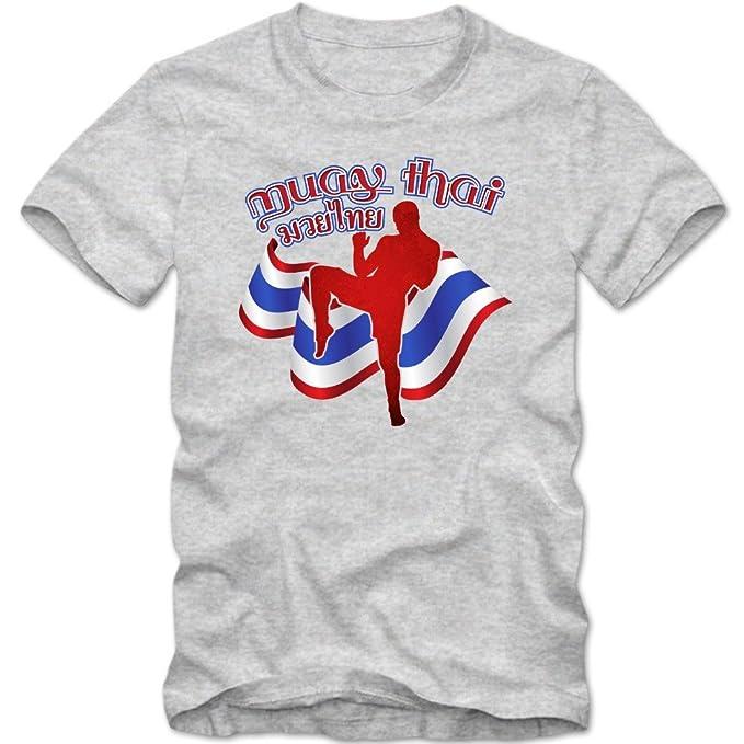 Muay Thai Camiseta | Hombre | Thai-Boxing | Thailand | Martial Arts | Autodefensa