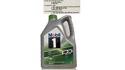 Aceite Lubricante Motor - Mobil 1 ESP 0W-30, 5 lts.: Amazon.es ...