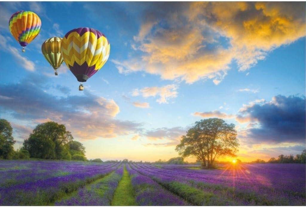 Paisaje de globos aerostáticos Lavender Field Farm, Rompecabezas de madera for adultos Niños, 300/500/1000 Piezas for Boy Girl Friends Regalo Juguetes Juego Decoración del hogar Descompresión anime de